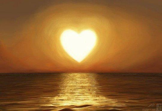 coeur jaune